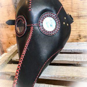 Pestmaske Handarbeit hochwertiges Leder auch in Wunschfarbe.
